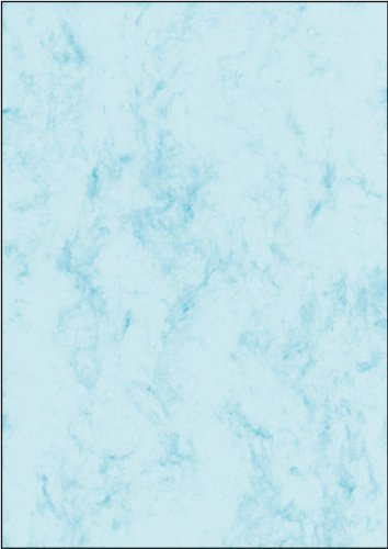 SIGEL DP261 Marbled Writing Paper, A4, 90 gsm blue, 100 sheets from Sigel