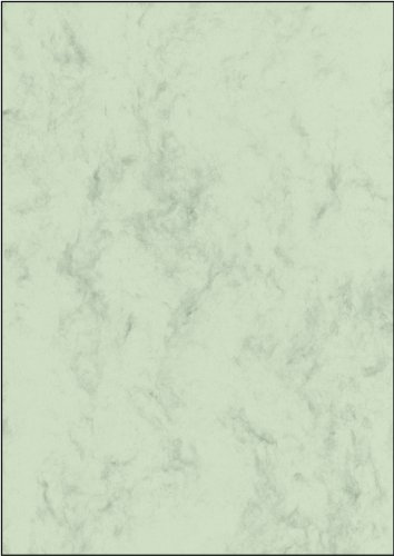 SIGEL DP263 Marbled Writing Paper, A4, 90 GSM Green, 100 Sheets from Sigel