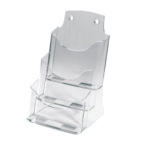 SIGEL LH132 Table-Top Literature Holder, for A5, with 3 compartments, acrylic, clear, 1 pc. from Sigel