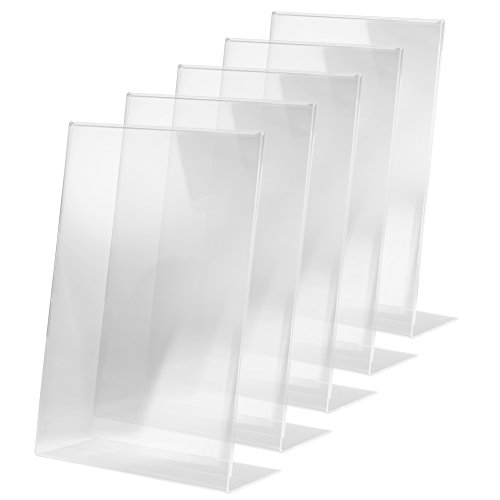 SIGEL TA213 Sign Holder, slanted, for A3, single-sided presentation, acrylic, transparent, 5 pcs. from Sigel