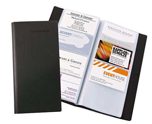 SIGEL VZ172 Card Holder / Card Book, leather-look, for up to 192 cards, black from Sigel