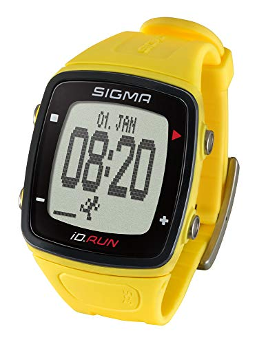 Sigma Sport Wearable iD.RUN yellow, GPS-based running watch, activity tracker from Sigma
