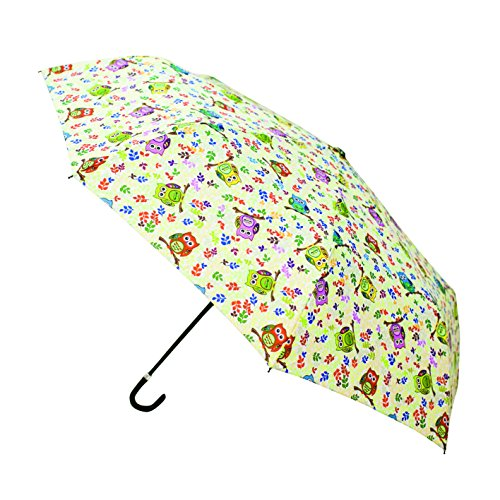 Signare Hook Handle Folding Umbrella in Owl Design from Signare