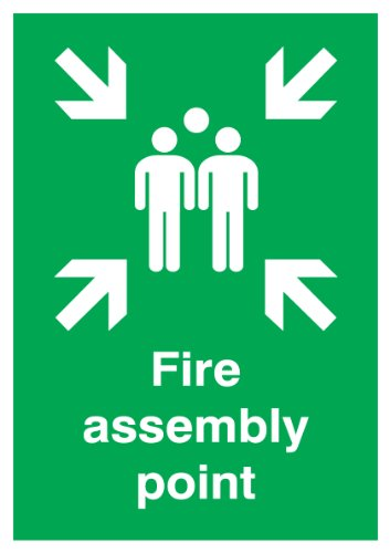 SIGNS and LABELS FFR04549R Fire Assembly Point Sign Board, 420 x 297 mm from Signs and Labels
