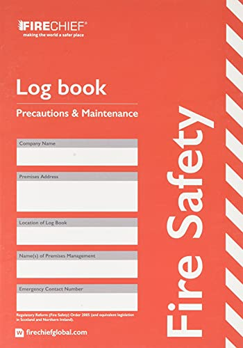 Signs & Labels FFC15 Sign Board, Fire Safety Log Book from Signs and Labels