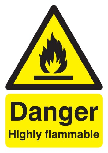 Signs & Labels FHA13050R Sign Board, Danger Highly Flammable from Signs and Labels