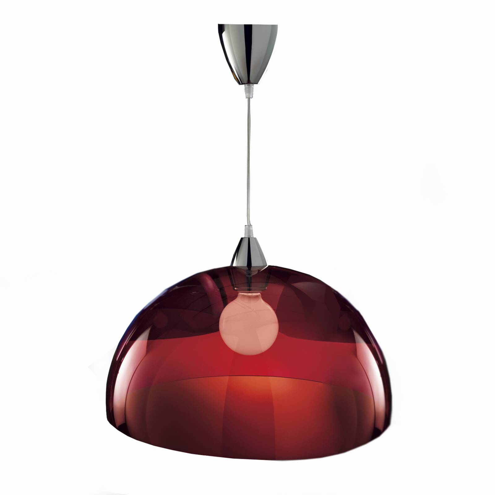 Stylish designer hanging light BLOB red from Sil-Lux