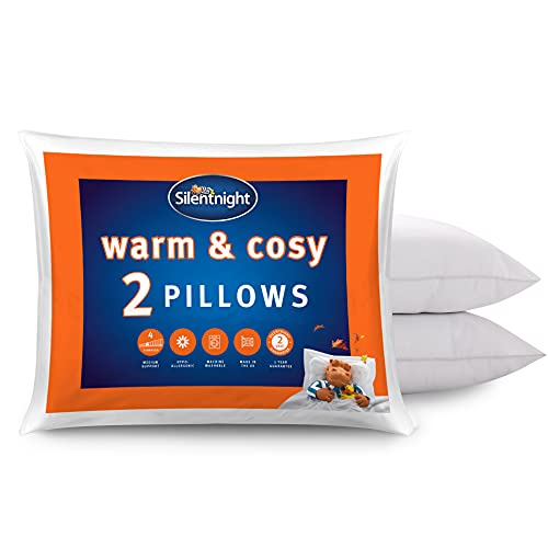 Silentnight Warm and Cosy Pillow Pair, Microfibre, White, Twin from Silentnight
