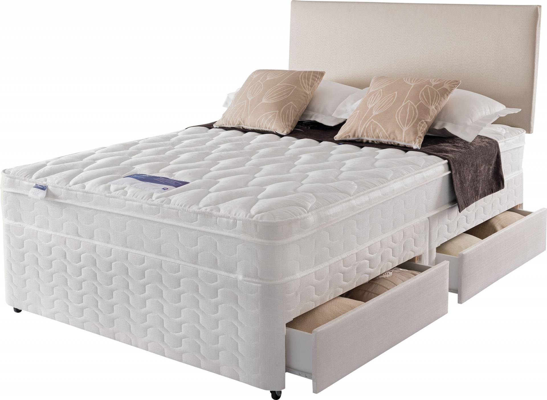 Silentnight - Auckland Luxury - Kingsize - Divan Bed - 4 Drawer from Silentnight