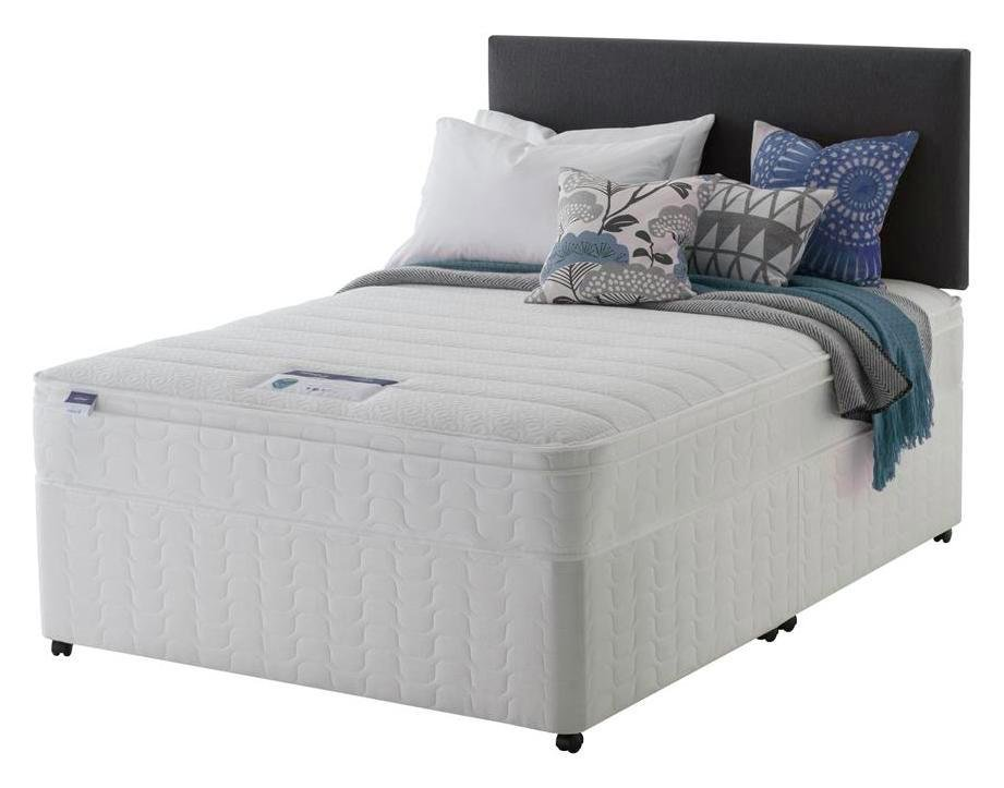 Silentnight - Miracoil Travis Cushiontop - Kingsize - Divan Bed at Argos from Silentnight