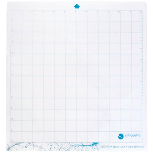 Silhouette 12.75 x 11.75-Inch Light Hold Cutting Mat for Cameo, Transparent from Silhouettes