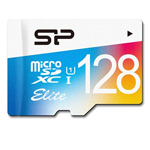 Silicon Power 128 GB Memory Card with SD Adapter, Elite MicroSDXC UHS-1 Class 10, Read up to 85MB/s from Silicon Power