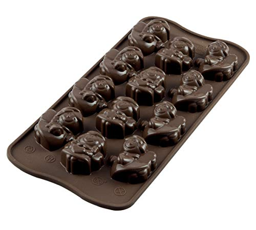 silikomart Silicone Chocolate Mould Angels, Brown from silikomart