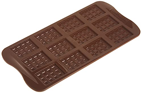 silikomart Silicone Chocolate Mould Tablette, Brown, 4 x 4 cm from silikomart