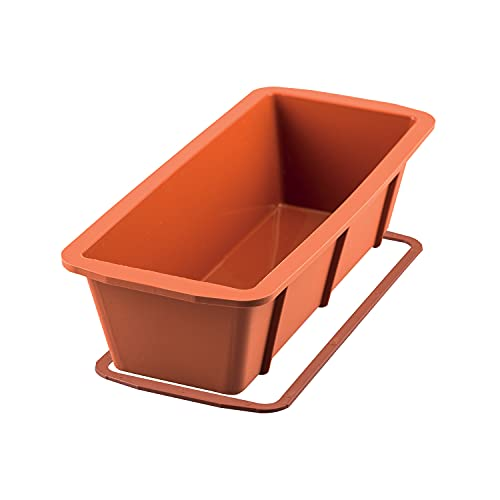 Silikomart Silicone Loaf Pan, Large, Size 260 x 100 H 70 mm, Terracotta from silikomart