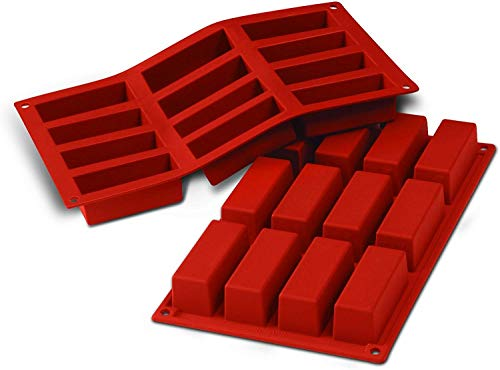 silikomart Silicone Mould Mini Rectangular Cakes, Terracotta from silikomart