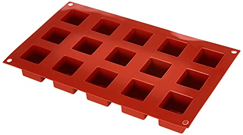 Silikomart Silicone Mould No. 15 Cubes, Small, Terracotta from silikomart