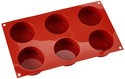 silikomart Silicone Mould No. 6 Cylinders, 70 mm, Terracotta, Shallow from silikomart