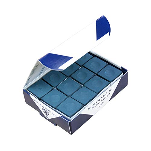 Box of 12 high quality Geniune Silver Cup DARK BLUE / NAVY chalks, from Silver Cup