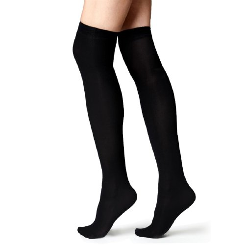 Ladies over the Knee Black Socks UK Size 4-7 Euro 37-42 from B&S Trendz