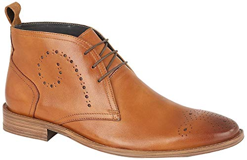 13c8b90fffe7b Silver Street Pembroke Mens Formal Casual and Smart Casual Leather Brogue  Lace up Chukka Boots in