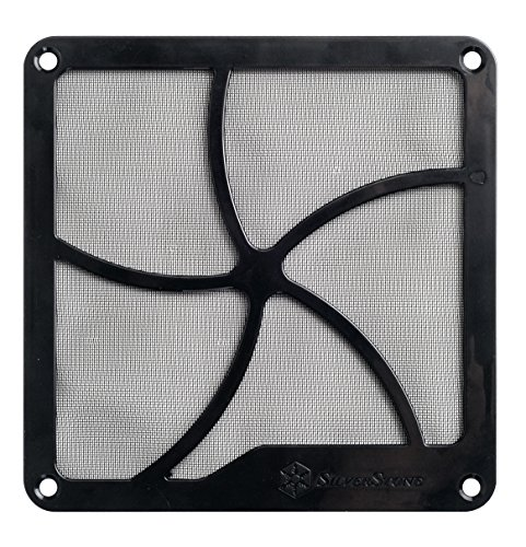 SilverStone SST-FF122B - 120mm Fan Grille and Dust Filter, Magnet, black from SilverStone Technology