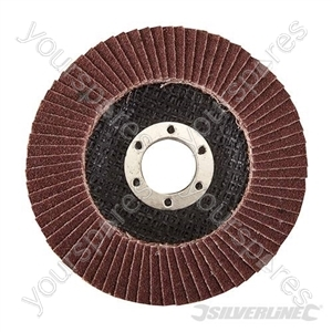 Aluminium Oxide Flap Disc - 115mm 80 Grit from Silverline