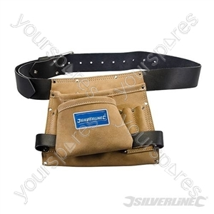 Leather Nail & Tool Bag 8 Pocket - 260 x 230mm from Silverline
