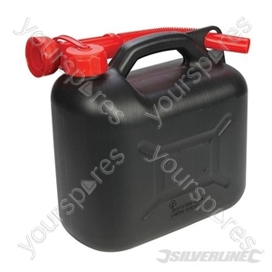 Plastic Fuel Can 5Ltr - Black from Silverline