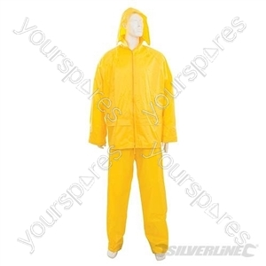 "Rain Suit Yellow 2pce - XL 34""W (58 - 120cm) from Silverline"