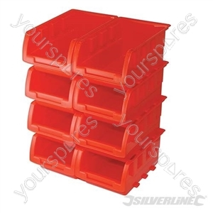 Stacking Boxes Set 8pce - 165 x 105 x 75mm from Silverline