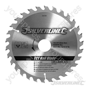 TCT Nail Blade 30T - 184 x 30 - No Rings from Silverline