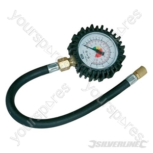 Tyre Dial Gauge - 0 - 100psi (0 - 10bar) from Silverline