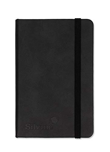 Silvine Executive Soft Feel Pocket Notebook Ruled with Marker Ribbon 160pp 90gsm 143x90mm Black Ref 196BK from Silvine