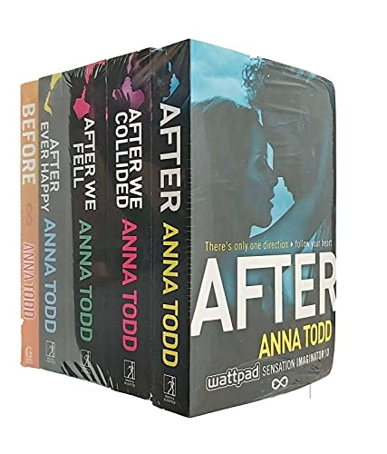 Anna Todd's The After Series 5 Books Set (After Ever Happy, After, After We Collided, After We Fell, Before) from Simon & Schuster UK