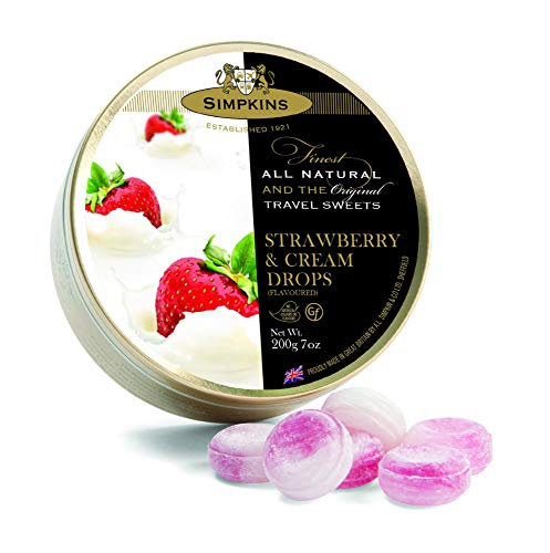Strawberry & Cream - Simpkins Travel Sweets 200g - Limited Edition from Simpkins
