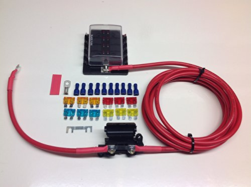 Fuse box distribution kit with ready made leads with 10-way fuse box (1mtr Kit) from Simply Split Charge Ltd