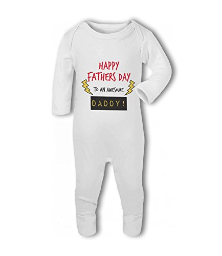 Happy Fathers Day to an Awesome Daddy! - Baby Romper Suit from Simply Wallart