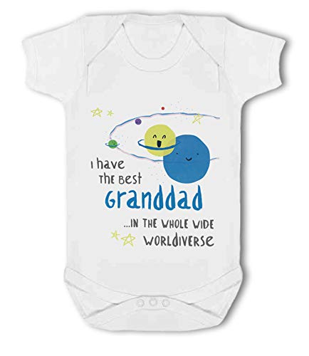 I Have The Best Granddad in The Whole Wide Worldiverse! - Baby Vest from Simply Wallart