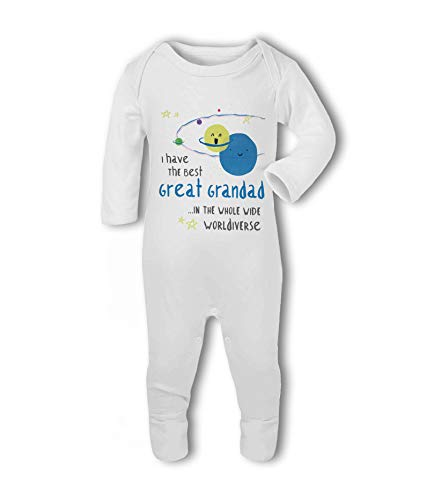 I Have The Best Great Grandad in The Whole Wide Worldiverse! - Baby Romper Suit from Simply Wallart