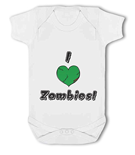 I Heart Zombies! - Baby Vest from Simply Wallart
