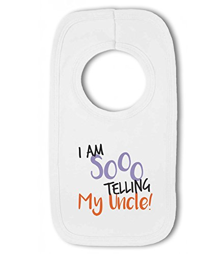 I am SOOO Telling My Uncle! - Baby Pullover Bib from Simply Wallart