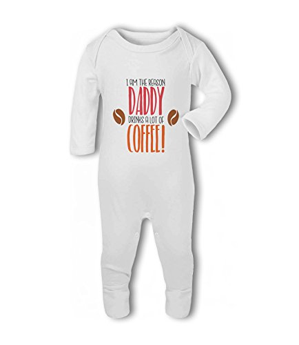I am The Reason Daddy Drinks a lot of Coffee! - Baby Romper Suit from Simply Wallart