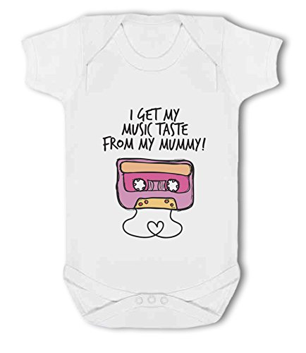 I get My Music Taste from My Mummy! - Baby Vest from Simply Wallart