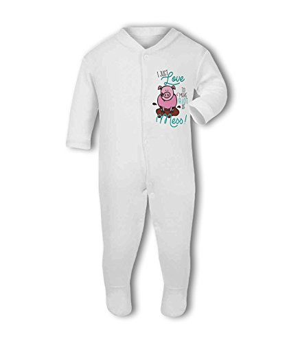 I just Love to Make a lot of Mess! - Baby Grow Suit from Simply Wallart