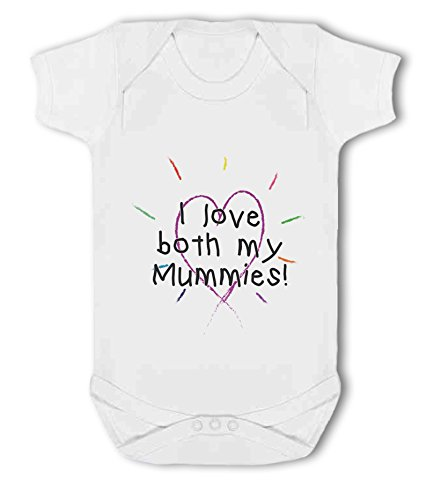 I Love Both My Mummies! - Baby Vest from Simply Wallart