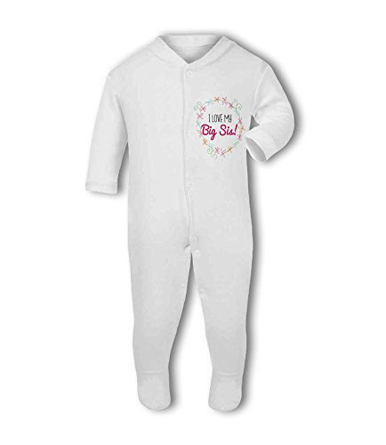 I Love My Big Sis! (Floral) - Baby Grow Suit from Simply Wallart
