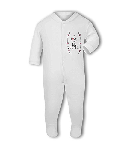 I Love My Big Sister! (Hearts and Arrows) - Baby Grow Suit from Simply Wallart
