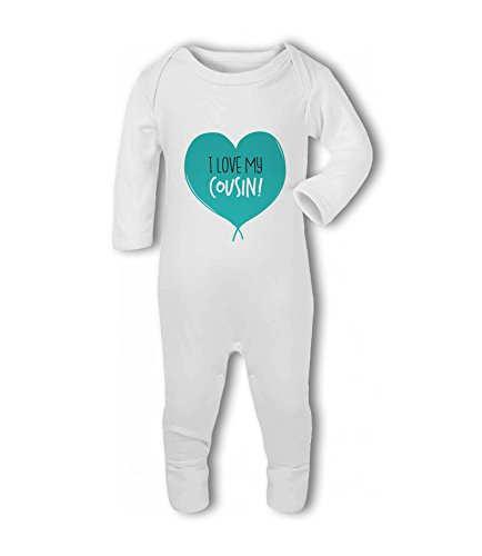 I Love My Cousin! (Heart) - Baby Romper Suit from Simply Wallart