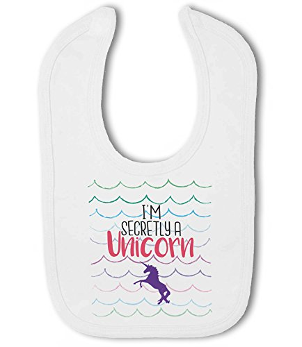 I'm Secretly a Unicorn - Baby Hook and Loop Bib from Simply Wallart